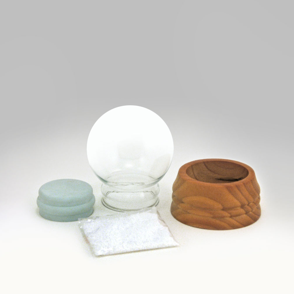 small round glass snow globe kit global shakeup