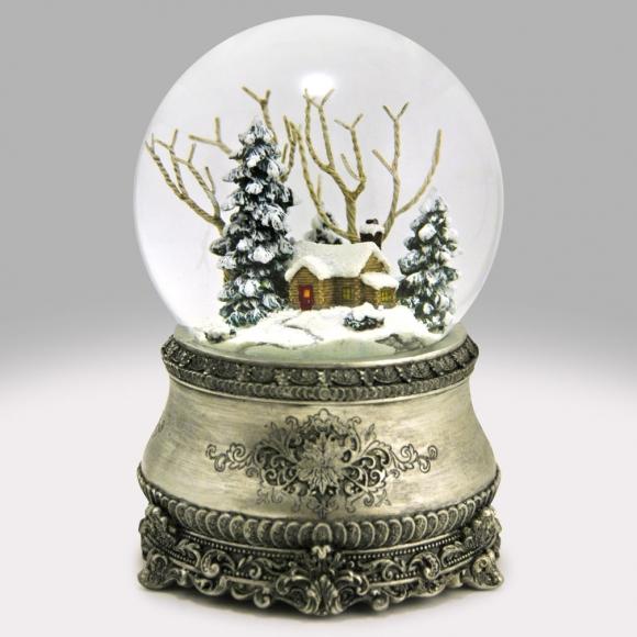 Christmas Snowglobes.Home For Christmas Snow Globe
