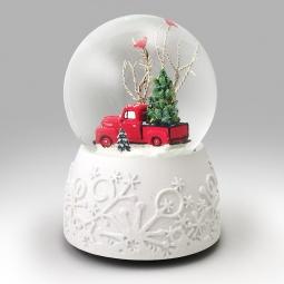 ford f 1 pickup snow globe