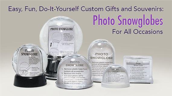Snow Globes Kits Photo Souvenir Gift Global Shakeup Snowdomescom