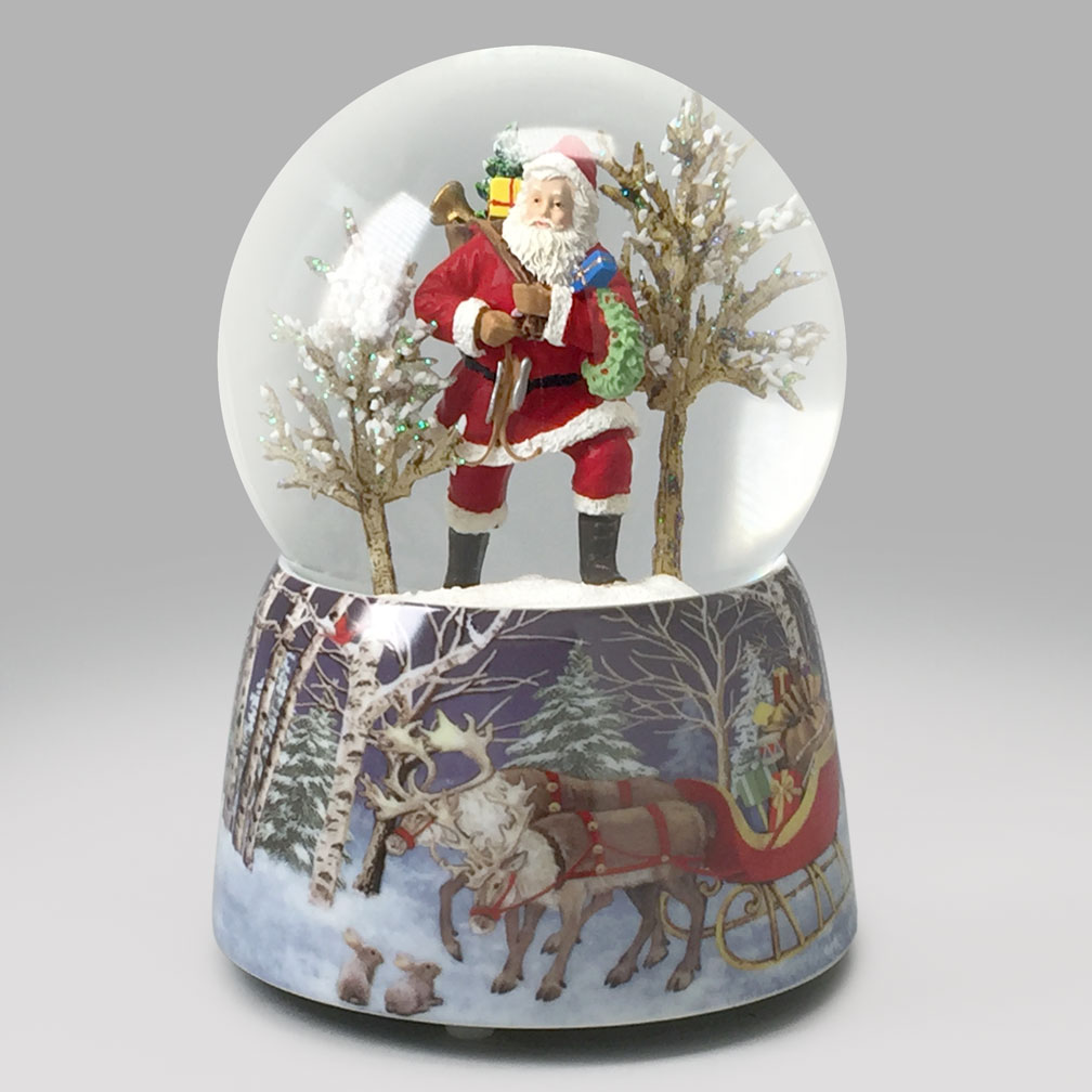 Santa brings joy snow globe global shakeup snowdomes
